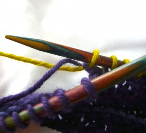 Twisting the yarns behind