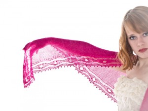 Winner of PINK (!) Galathea Shawl is…