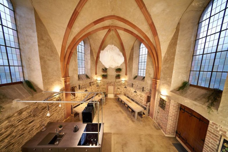 the kitchen in the old church of Bernkastel-Wehlen